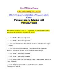 CJA 374 Entire Course-cja374dotcom