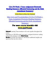 CJA 374 Week 1 Team Assignment Electronic Reading-cja374dotcom