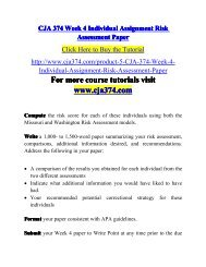 CJA 374 Week 4 Individual Assignment -cja374dotcom