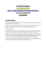ACC 281 Week 5 Final Paper / acc281dotcom