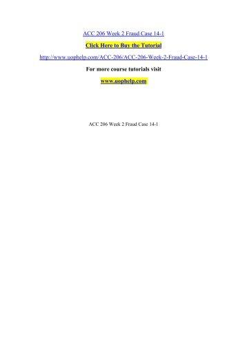 ACC 206 Week 2 Fraud Case 14/ UOPHELP