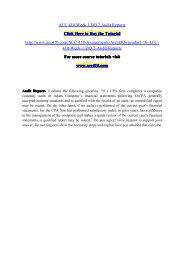 ACC 410 Week 2 DQ 2 Accounting Principles / acc410dotcom