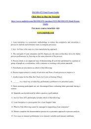 ISCOM 472 Final Exam Guide/uophelp