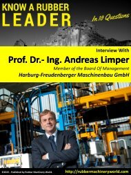 Know A Rubber Leader - Interview With Prof. Dr.- Ing. Andreas Limper