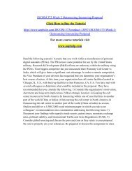 ISCOM 373 Week 3 Outsourcing Insourcing Proposal/uophelp