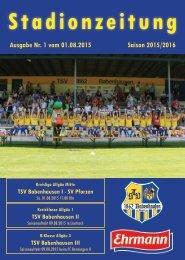 20150801 01 Stadionzeitung TSV Babenhausen - SV Pforzen