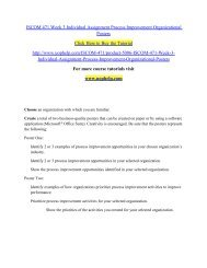 ISCOM 471 Week 3 Individual Assignment Process/UOPHELP