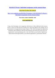 ISCOM 473 Week 1 Individual Assignment Article Analysis Paper/UOPHELP