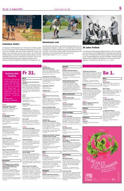 Berner Kulturagenda 2015 N°31