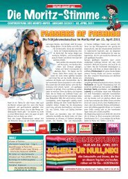 centerzeitung des moritz-hofes · ausgabe 02/2011