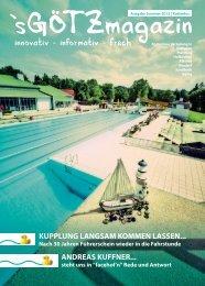 'sGÖTZmagazin - Sommer 2015