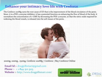Enhance your intimacy love life with Cenforce