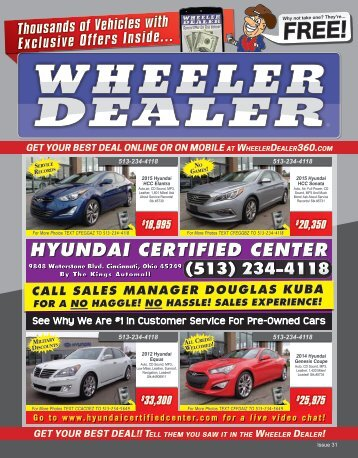 Wheeler Dealer 31-2015