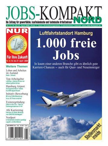 Nr. 8 | 14. bis 27. April 2008 - Jobs-Kompakt