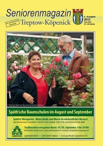 Seniorenmagazin Treptow-Köpenick - 4. Ausgabe 2015