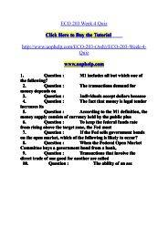 ECO 203 Week 4 Quiz/uophelp