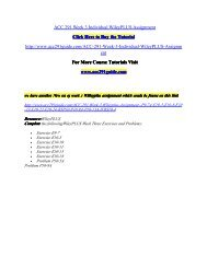 ACC 291 Week 3 Individual WileyPLUS Assignment/ acc291guidedotcom