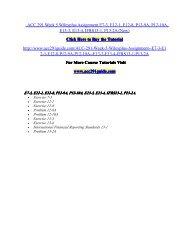 ACC 291 Week 5 Wileyplus Assignment E7-3, E12-1/ acc291guidedotcom
