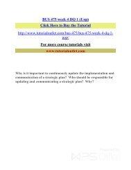 BUS 475 week 4 DQ 1 (Uop) /Tutorialoutlet