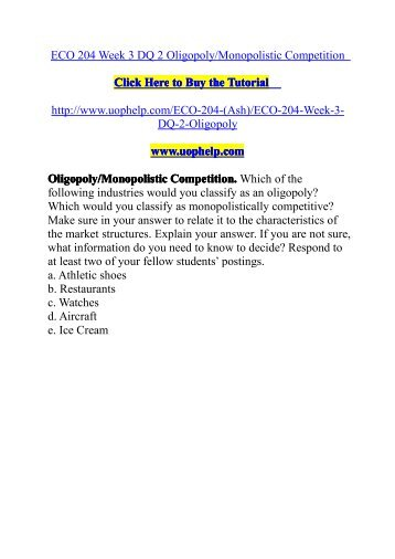 eco 204 week 2 dq 1 Eco 204 week 3 quiz answers  ese 656 week 1 dq 2 development  click the button below to add the eco 204 eco204 week 3 quiz with answers to your.