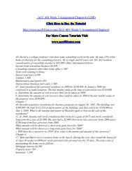 ACC 401 Week 3 Assignment Chapter 6/ acc401tutordotcom