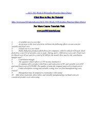 ACC 561 Week 4 Wileyplus Practice Quiz/ acc561tutorialdotcom
