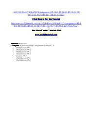 ACC 561 Week 5 WileyPLUS Assignment/ acc561tutorialdotcom