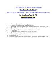 ACC 561 Week 5 Wileyplus Practice Quiz/ acc561tutorialdotcom
