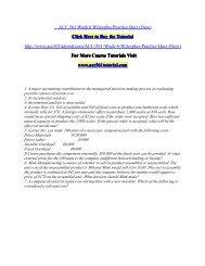 ACC 561 Week 6 Wileyplus Practice Quiz/ acc561tutorialdotcom