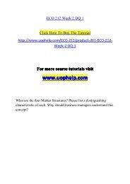 ECO 212 Week 2 DQ 1/UOPHELP