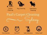 Paul's Carpet Cleaning Sydney