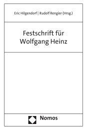 Festschrift für Wolfgang Heinz - Zum Nomos-Shop