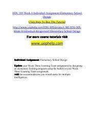 EDU 305 Week 4 Individual Assignment Elementary School Design.pdf