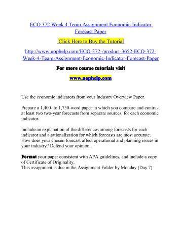 Economic forecast paper