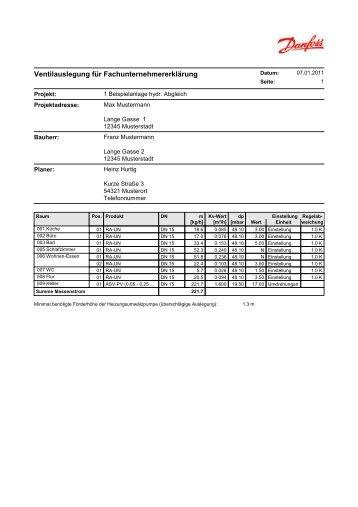 DA1 - DanBasic V - [Ausdruck] - Hydraulischer Abgleich
