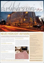 neues highlight am main - Fleming's Hotels und Restaurants