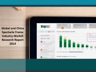 Global and China Spectacle Frame Industry Market Research Report 2014