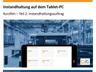 B&IT-Kurzfilm: Mobile Instandhaltung mit SAP PM auf dem Tablet PC - Instandhaltungsauftrag