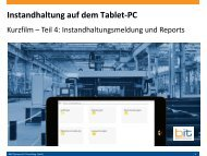 B&IT-Kurzfilm: Mobile Instandhaltung mit SAP PM auf dem Tablet PC - Meldungen & Reports