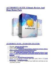 Authority Suite Review and $30000 Bonus-Authority Suite 80% DISCOUNT