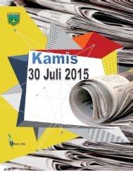 Kliping Berita Hari Kamis tanggal 30 Juli 2015