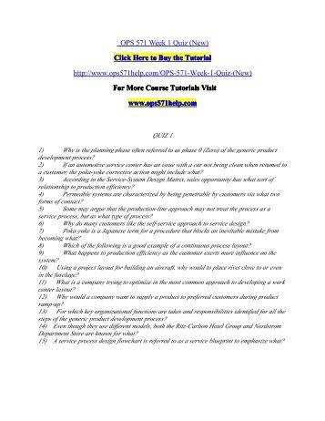 OPS 571 Week 1 Quiz (New)/ ops571helpdotcom