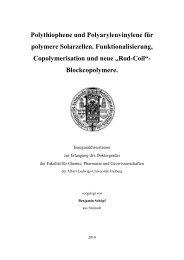 Polythiophene und Polyarylenvinylene für polymere Solarzellen ...