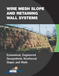 WIRE MESH SLOPE AND RETAINING WALL SYSTEMS - Armtec