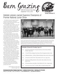 Holstein winners named Supreme Champions of Premier National ...
