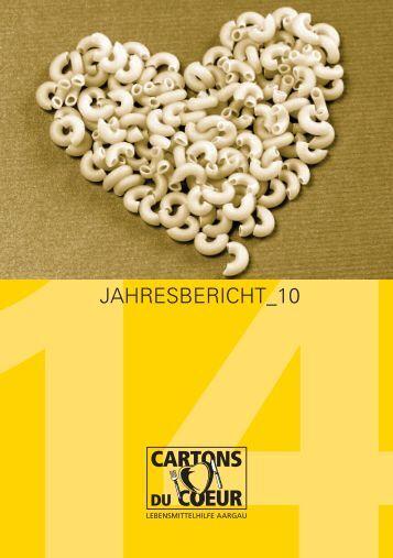 Jahresbericht 2010 - Cartons du Coeur