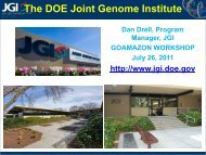 The DOE Joint Genome Institute
