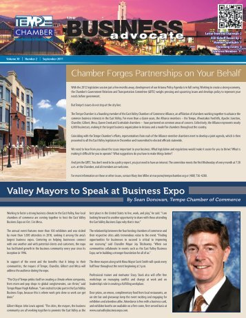 The Business Advocate Sept. 2011 - Tempe Chamber of Commerce