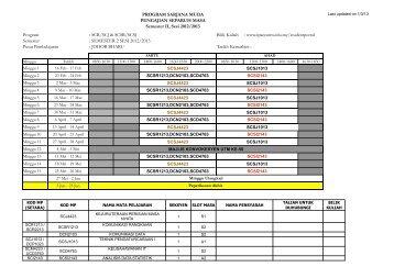 JADUAL KULIAH FSKSM UTMSPACE SEM2 2012-2013 - JB