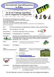 bis 17-jährige Jugendliche vom 01. August bis 15 ... - TSV Eltingen